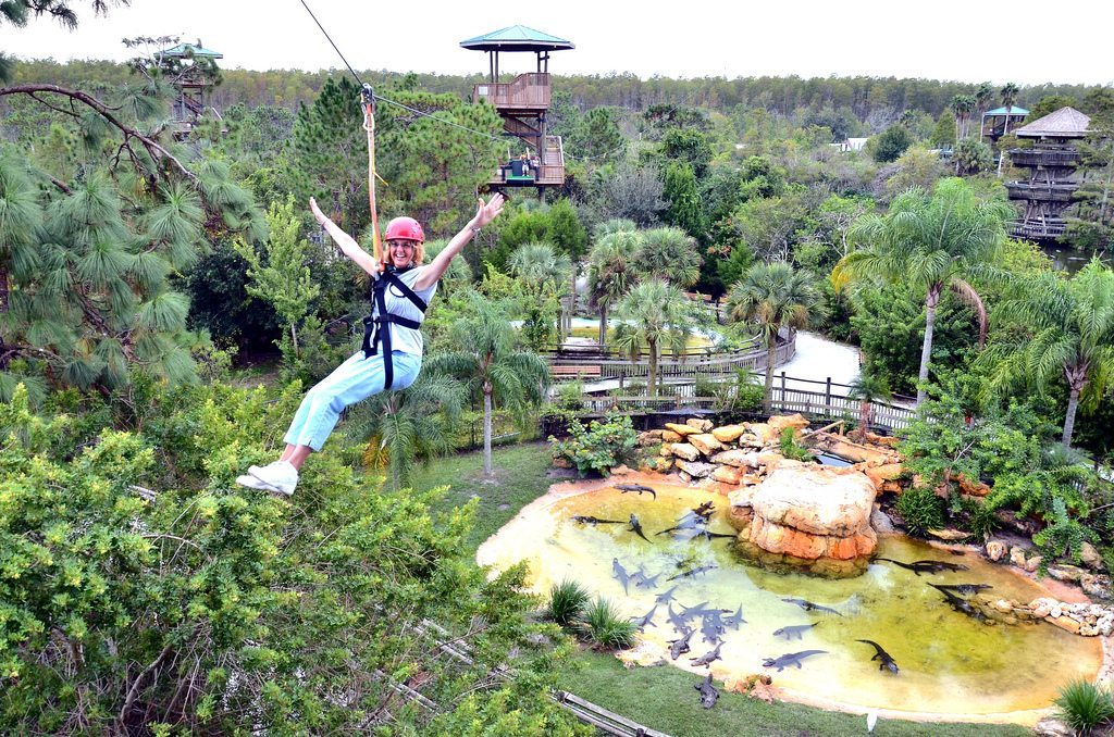 Gatorland Orlando zip line
