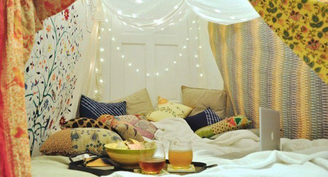 stay at home camping date night tips