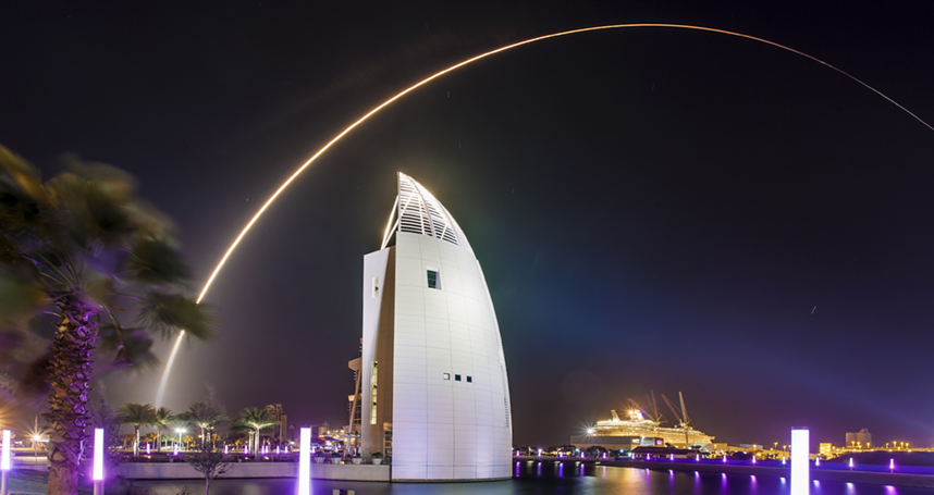 Exploration Tower rocket launch in Central Florida